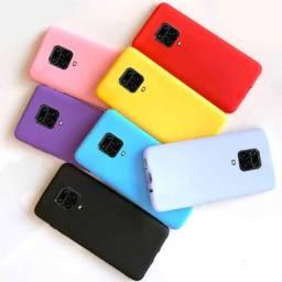 Pronta Entrega Capa Case Capinha Anti Impacto Xiaomi Redmi Note 9s Transparente e Colorida