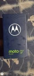 Vendo moto G9 play zerado pra hj nota fiscal garantia aparelho sem nenhum arranhão  800 hj