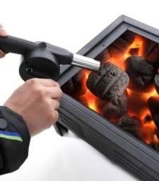 Soprador manual para acender churrasqueira e lareira a carvão - Uso super fácil