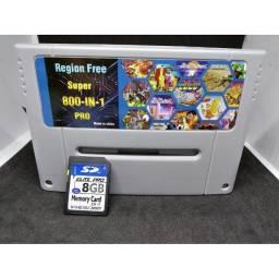 Cartucho 800 em 1 -Jogos Super Nintendo