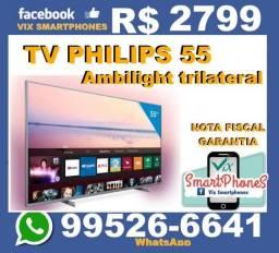 Smart TV Philips 55 4K Ambilight nota garantia  --$_$--stfmt