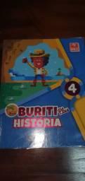 Livro Buriti plus história.