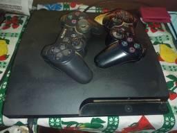 Título do anúncio: Vendo PS3 com 2 controles