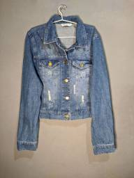 Jaqueta Jeans Azul Cropped