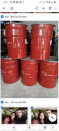 Tambor de ferro 200 litros grande tampa abre * fica bengui