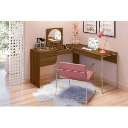 Mesa Escrivaninha Penteadeira Luna - Frete Grátis - 12x s/ Juros - Receba hoje!