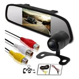 Espelho retrovisor com câmera dê re aceito cartão