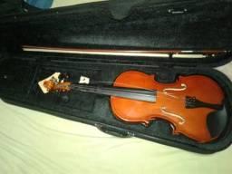Violino barth com arco, case, arco e breu
