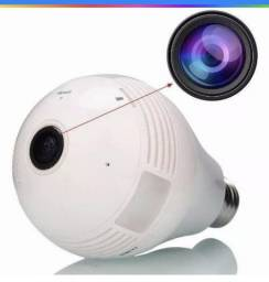 Camera Ip Lampada Led 360 HD Panorâmica Wifi Celul 3g Espiã