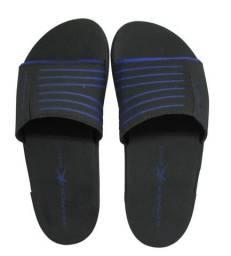 Chinelo Kenner Rhaco Slide Sport Masculino - Azul e Preto - Tamanho 37 e 39