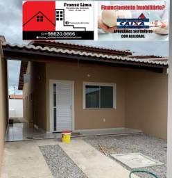 Casas de 2quartos sendo 2suites já prontas para financiamento a 900m da br116