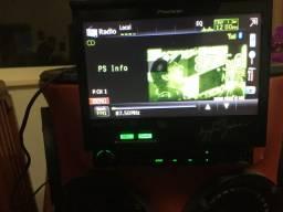 DVD retrátil Airton senna pionner funcionando perfeitamente