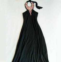 Vestido bordado tam P importado - longo