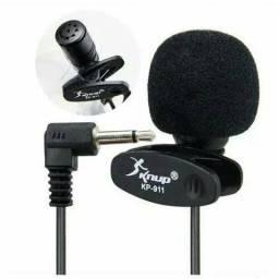 Microfone de Lapela para gravação de video PC KP-911 Knup