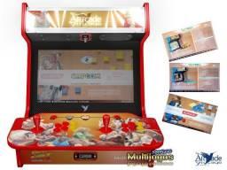 """Arcade Bartop Fliperama Multijogos Retro Tema: Street Fighter ll com 7050 jogos Tela: 22"""""""