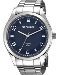 Relógio Seculus Masculino Long Life 23654g0svna1 em aço prova daguá comprar usado  Curitiba