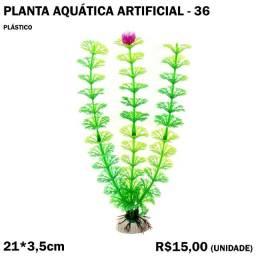 Planta de Aquário Artificial com Rosa