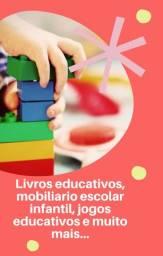 Vendo Livros, jogos e brinquedos educativos,