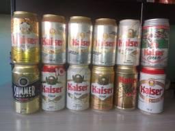 Coleção De Latas De Cerveja Kaiser 12 Latas