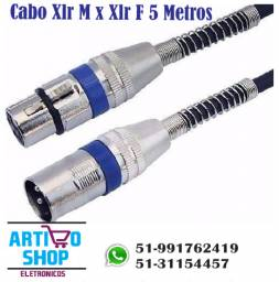 Cabos Microfone - dmx - Xlr / canon Balanceado 5 Metros