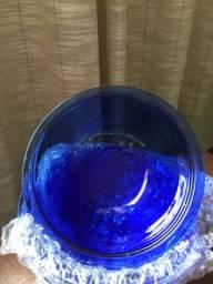 Tigela pequena em vidro azul