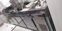 Balcão de Encosto 04 portas Inox - Polo Frio
