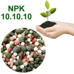 Fertilizante NPK 500g. fórmula 10-10-10. formação de frutíferas e plantas ornamentais.
