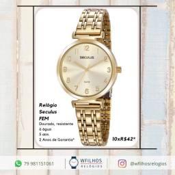 Relógio Seculus Analógico Feminino Original 2 Anos de Garantia com NF