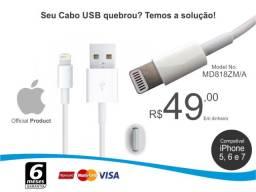 Título do anúncio: Cabo USB Original iPhone