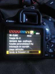 Câmera profissional canon t7
