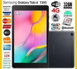 "Galaxy Tab A T295 Tela de 8.0"" Quad Core, 32GB, 4G+Wi-Fi, GPS, Novíss, Cx, NF, Garantia"