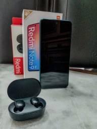 Redmi note 9 pro 128GB/6GB ram + fone bluetooth Airdots 2 original