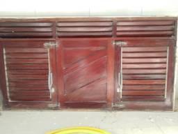 Título do anúncio: Janelão 150cm x 80cm de madeira de lei Massaranduba