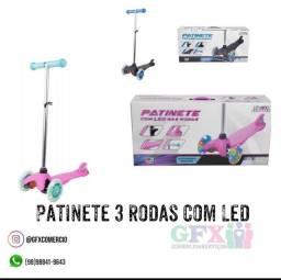 SOMENTE ROSA E COM LED NAS 3 RODAS ( PATINETE )