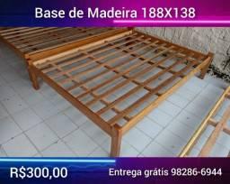 Base / cama de casal Madeira Angelim
