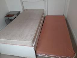 Título do anúncio: Cama com cama auxiliar + Colchão Ortopédico Vertebralle + Colchão solteiro