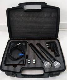 Microfones Bastão Sem Fio UHF - Mesa de Som 8 Canais (USB)