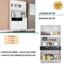 Armário cozinha kit 90 75