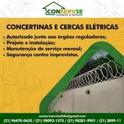 Venda e Instalação de Concertinas e Cercas Eletricas