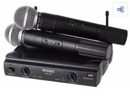 Microfone profissional sem fio  novo