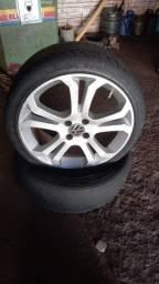 pneus aro 17  2Novos2255017 e Outros 215 e 205usado +Rodas17