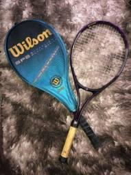 Raquetes de tênis Wilson com capa+ raquete Dunlop + capa wilson com alça