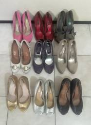 Sapatos Femininos Semi Novos Arezzo N. 35 20,00 Unidade