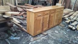 Trabalho com móveis de cedro e muiracatiara e angelin ou jatobá