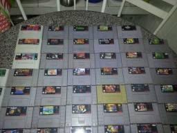 Título do anúncio: 140 jogos super nintendo + 1 consoles + 2 controles