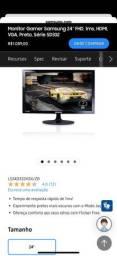 Título do anúncio: MONITOR LED 24'' SAMSUNG GAMER 1MS 75HZ LS24D332