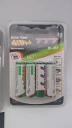 Pilhas recarregável AA e AAA//adquira já entrega grátis
