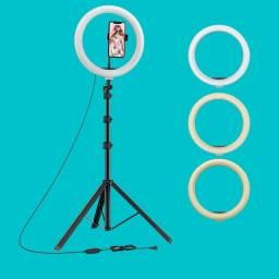 Ring Light 2 m altura com Led 26 cm