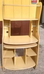 Estante amarela para Computador ou televisão.