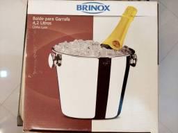 Balde de Gelo/Garrafa 4,2L Inox Brinox